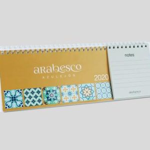 ABCD SL - Imagen calendario 2020 de mesa Wire-O con notas