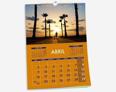 ABCD SL - Imagen calendario 2020 de pared con Wire-O